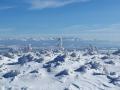 śnieżny pejzaż z Taterkami