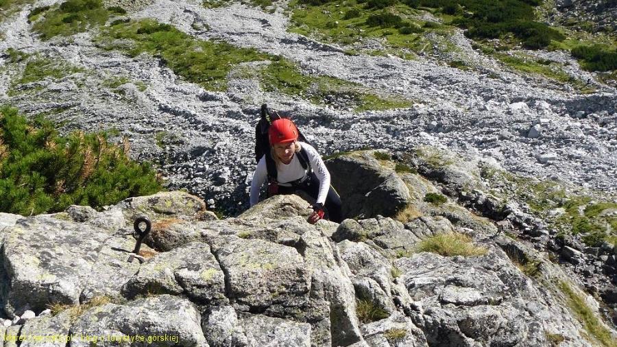 wspinaczka żebrem w górę doliny Dzikiej