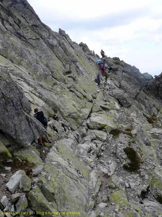 droga z przełęczy na szczyt