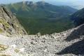 rumowisko skalne Baraniej Kotlinki z panoramą Tatr Bielskich