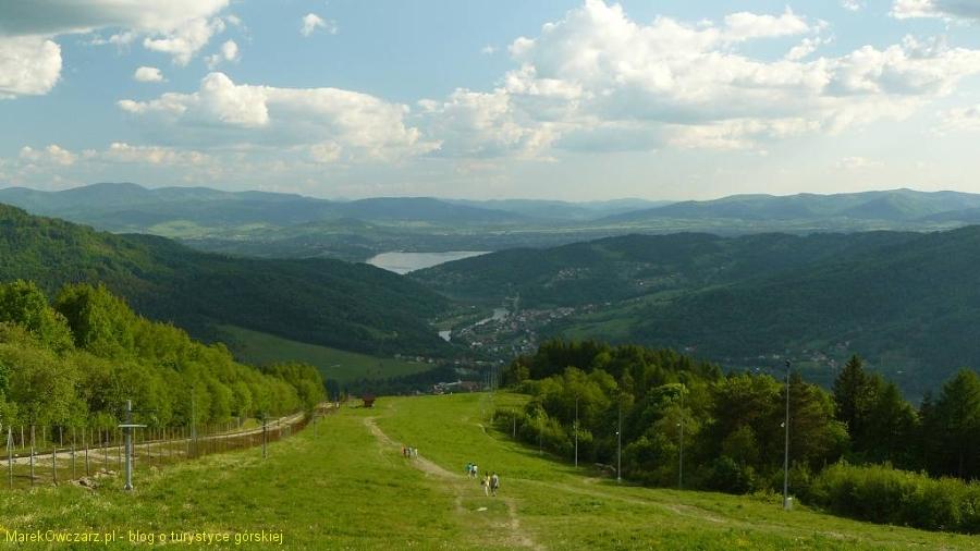 spojrzenie z Żaru w stronę jeziora Żywieckiego