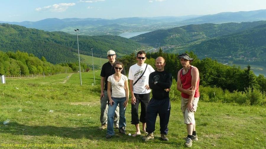 nasza ekipa przy zejściu z Hrobaczej Łąki