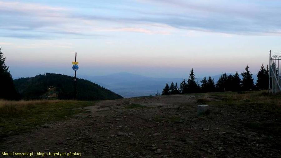 na szczycie Klimczoka