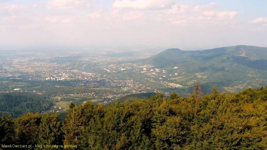 panorama Ustronia z Czantorii
