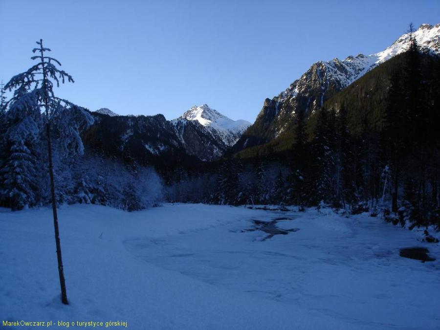 zimowy pejzaż w Dolinie Białej Wody