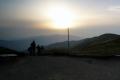 zachód słońca z siodła w Tarnicy