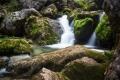 cudowna kaskada bez nazwy na potoku Galbenei