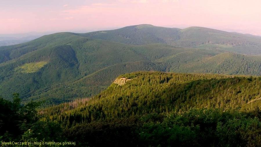Sokolica i pasmo Policy z Babiej Góry