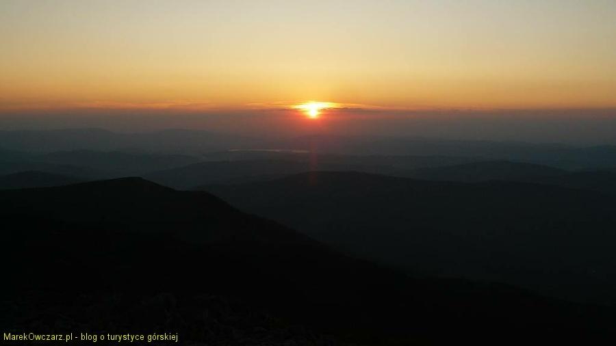 zachód słońca z Diablaka