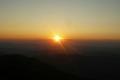 słońce żegna się z górami