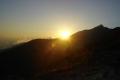 słońce chowa się już za Siodełkową Kopą