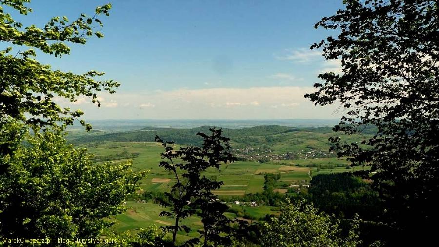 panorama ze szczytu w stronę Krosna