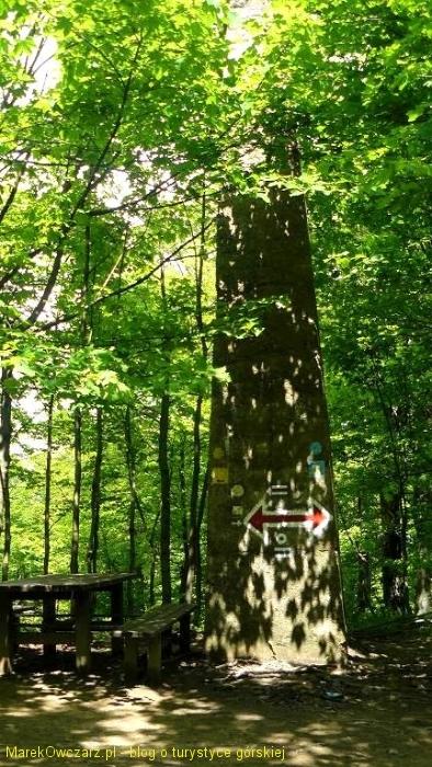 obelisk na szczycie Chryszczatej