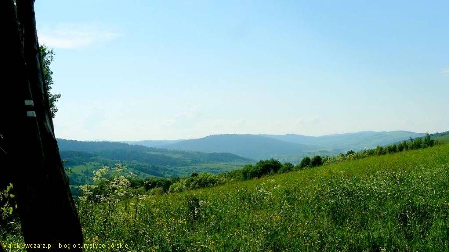 panorama ze stoków Suliły na północ