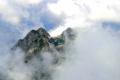Giewont w chmurach