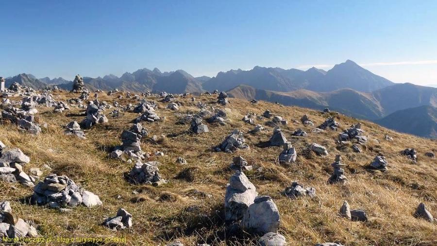 kopczyki na szczycie Krzesanicy