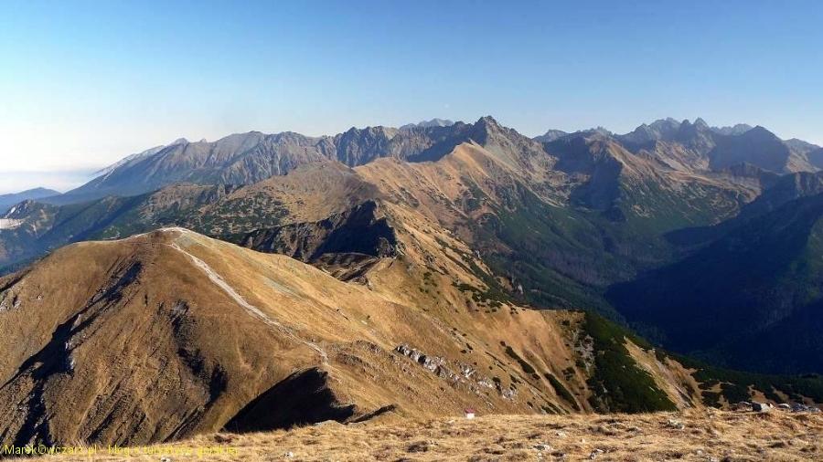 panorama od Kopy Kondrackiej po Koprowy Wierch