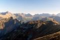 panorama od Świnicy po Krywań
