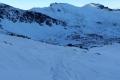 zejście nad Zielony Staw, w górze Beskid i Kasprowy
