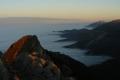 skały Giewontu jeszcze w promykach słońca