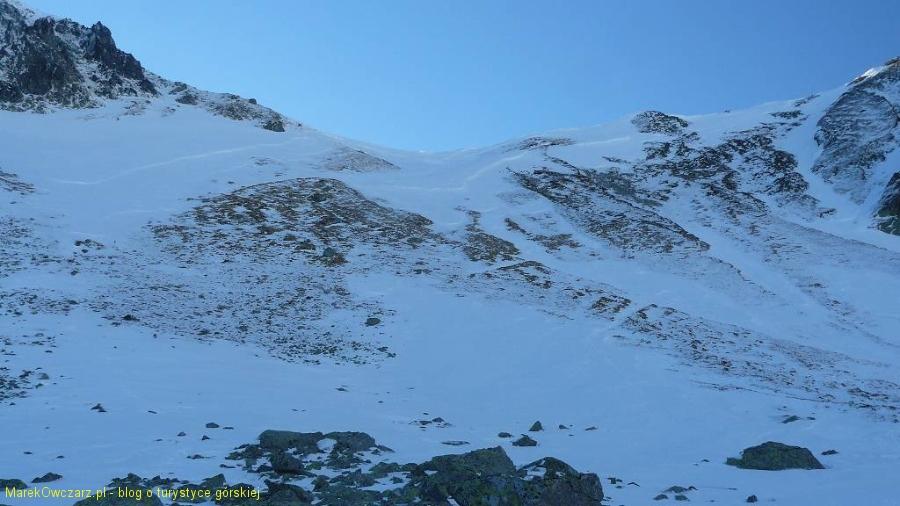 Gładka Przełęcz widziana z dołu