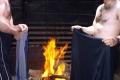 suszenie przy ognisku w bacówce na Średniej Polanie