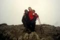 na szczycie Chocza we mgle