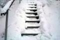 jedne ze schodków w drodze na szczyt