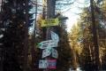 rozejście szlaków na Przełęczy Krzyżowej