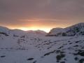 ostatnie promienie słońca nad Tomanowym Wierchem