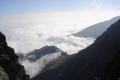mgły osaczają góry
