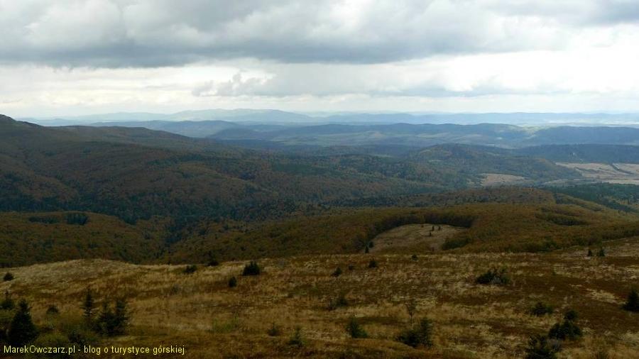 widoczek w stronę Gór Sanocko-Turzańskich