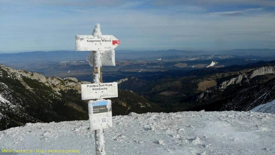 widok z przełęczy na Podhale, Gorce oraz Myślenickie Turnie i Nosal