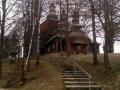 schody do cerkwi w Wojkowej
