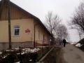 początek drogi przy szkole w Wojkowej