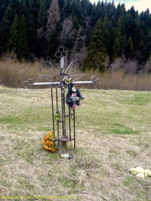 przydrożny krzyż w Mochnaczce Niżnej