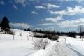 droga na przełęcz Beskid