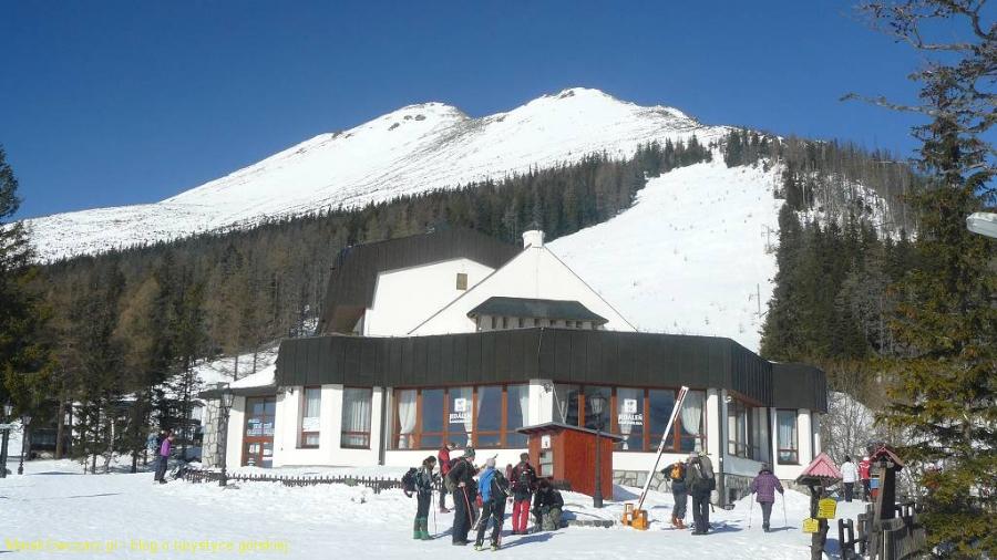 Sławkowski szczyt wznosi się nad Hrebieniokiem