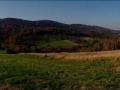 panorama z przełęczy Hyrcza na pasmo Łopiennika i Durnej