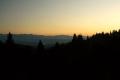 Tatry o zachodzie słońca widziane z przełęczy Knurowskiej