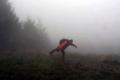 odlot w beskidzkiej mgle