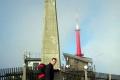 autor przy obelisku na szczycie Łysej Hory