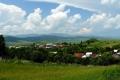 panorama wsi Kyjov ze zboczy Łysej Góry