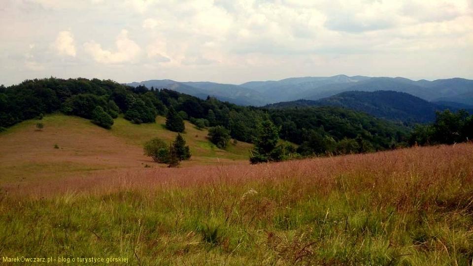polana Uhliska z widokiem od Cergova po Łysą