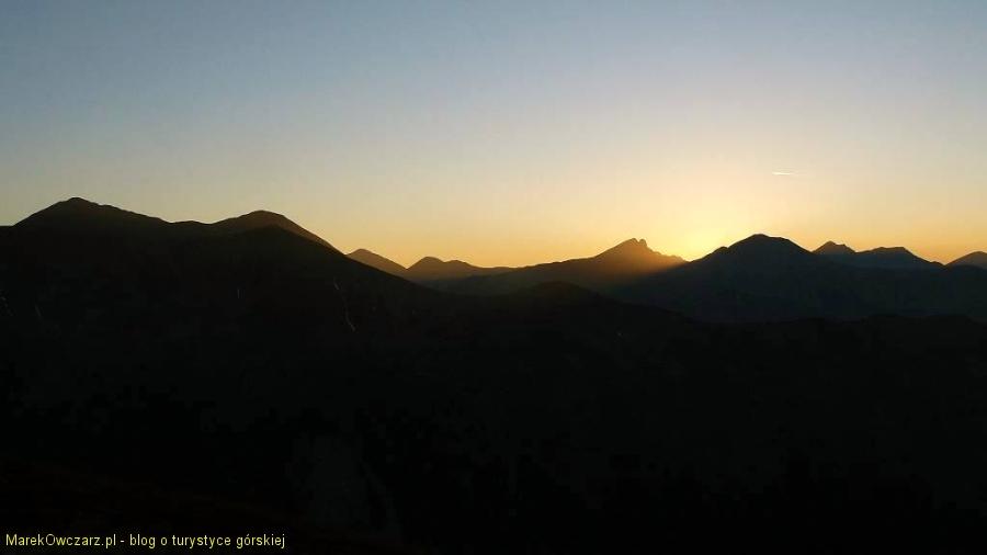 zachód słońca nad Rohaczami
