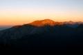 ostatnie promyki słońca na Czerwonymi Wierchami