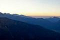 panorama Tatr Zachodnich o zachodzie słońca