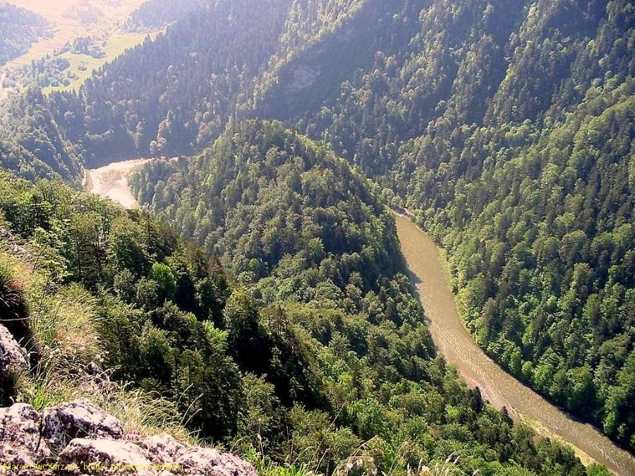 przełomy Dunajca widziane z Sokolicy