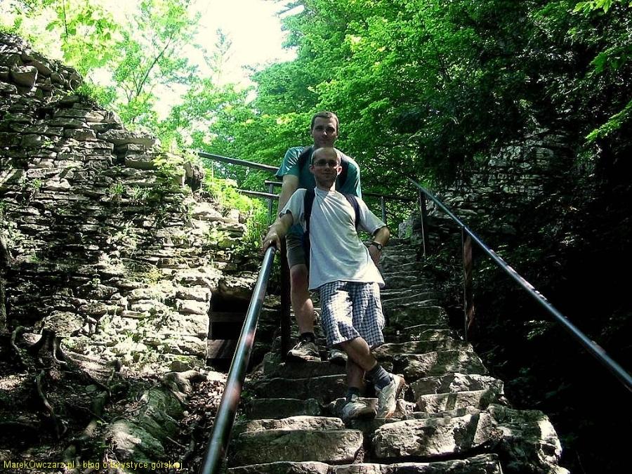 przy ruinach zamku Pienińskiego na Zamkowej Górze