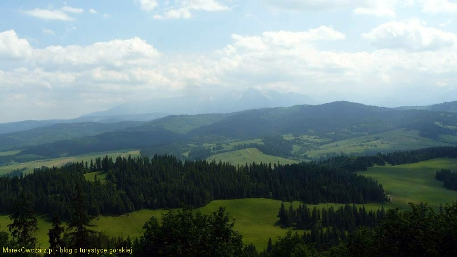 panorama Tatr z Żaru